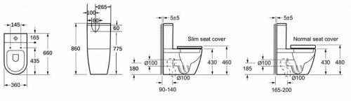 TC-6601 Toilet Dimensions