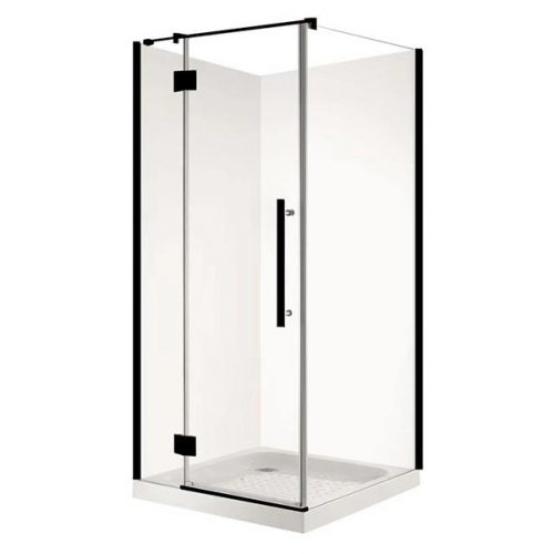 Square Matt Black Shower
