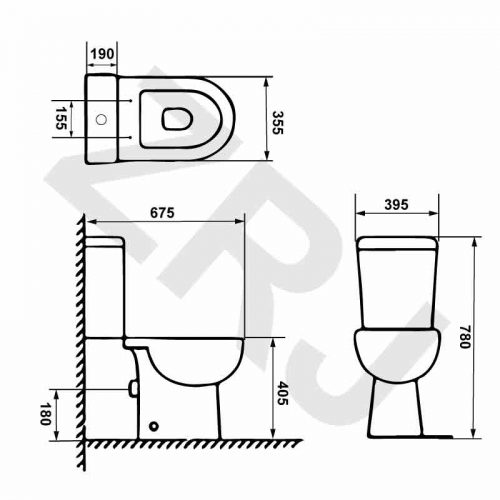 Rimless Toilet TC-6671